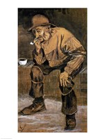 Old man with a pipe, 1883 Fine-Art Print
