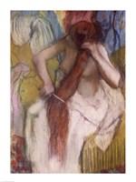 Woman Combing her Hair C Fine-Art Print