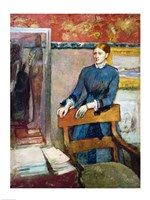 Helene Rouart in her Father's Study Fine-Art Print