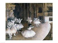 Ballet Rehearsal on the Stage, 1874 Fine-Art Print