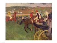 The Race Course - Amateur Jockeys near a Carriage Fine-Art Print