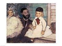 Comte Le Pic and his Sons Fine-Art Print