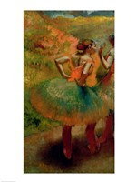 Dancers Wearing Green Skirts, c.1895 Fine-Art Print