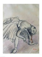 Dancer Fixing her Slipper, c.1865 Fine-Art Print