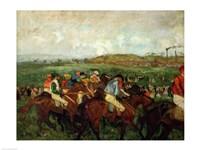 Gentlemen race. Before the Departure, 1862 Fine-Art Print