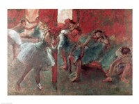 Dancers at Rehearsal - red Fine-Art Print