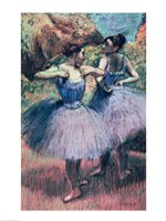Dancers in Violet Framed Print