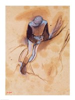 Jockey flexed forward standing in the saddle Fine-Art Print