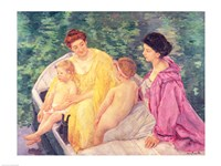 The Swim, or Two Mothers and Their Children on a Boat, 1910 Fine-Art Print