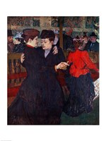 At the Moulin Rouge: The Two Waltzers, 1892 Fine-Art Print