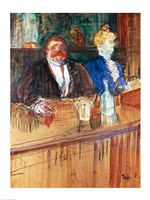 In the Bar: The Fat Proprietor and the Anaemic Cashier, 1898 Fine-Art Print
