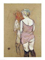 Two Semi-Nude Women at the Maison de la Rue des Moulins, 1894 Fine-Art Print