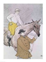 The jockey led to the start Fine-Art Print