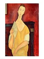 Woman with a Fan Fine-Art Print