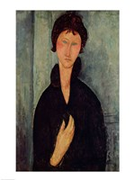 Woman with Blue Eyes, c.1918 Fine-Art Print
