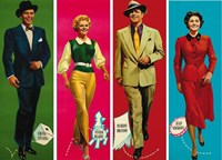 Guys and Dolls Characters Wall Poster