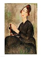 Portrait of Dedie Hayden, 1918 Fine-Art Print