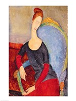 Mme Hebuterne in a Blue Chair, 1918 Fine-Art Print