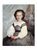 Portrait of Mademoiselle Romaine Lacaux, 1864 Fine-Art Print