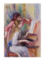Young Girls at the Piano Fine-Art Print