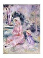 Madame Renoir and her son Pierre, 1890 Fine-Art Print