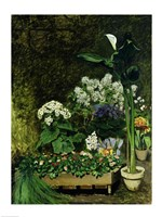 Flowers in a Greenhouse, 1864 Fine-Art Print