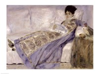 Madame Monet on a Sofa, c.1874 Fine-Art Print