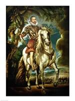 Equestrian portrait of the Duke of Lerma Fine-Art Print