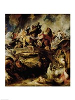 Battle of the Amazons and Greeks Fine-Art Print