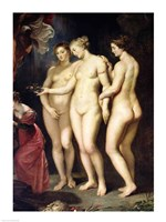 The Medici Cycle: Education of Marie de Medici, detail of the Three Graces Fine-Art Print