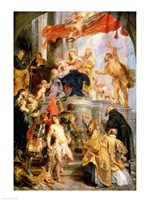 Enthroned Madonna with Child, Encircled by Saints Fine-Art Print