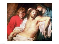 Lament of Christ by the Virgin and St. John Fine-Art Print