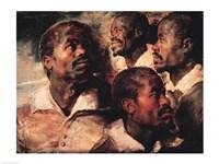 Studies of the Head of a Negro Fine-Art Print