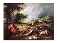 Landscape with a Rainbow Fine-Art Print