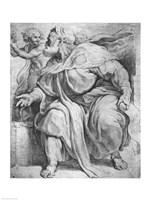 The Prophet Ezekiel, after Michangelo Buonarroti Fine-Art Print