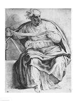 The Prophet Joel, after Michangelo Buonarroti Fine-Art Print