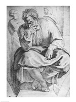 The Prophet Jeremiah, after Michangelo Buonarroti Fine-Art Print