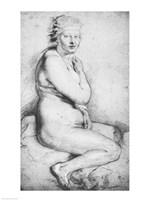 Young nude woman seated Fine-Art Print