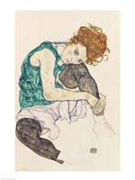 Seated Woman with Bent Knee, 1917 Fine-Art Print