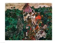 Landscape at Krumau Fine-Art Print