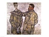 Double Portrait of Otto and Heinrich Benesch Fine-Art Print