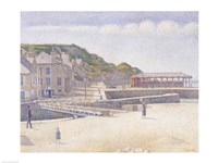 The Harbour and the Quays at Port-en-Bessin, 1888 Fine-Art Print