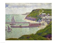 Harbour at Port-en-Bessin at High Tide, 1888 Fine-Art Print