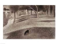 Study for Sunday Afternoon on the Island of La Grande Jatte (dog detail) Fine-Art Print