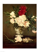 Vase of Peonies on a Small Pedestal, 1864 Fine-Art Print