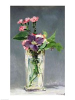 Pinks and Clematis in a Crystal Vase, c.1882 Fine-Art Print