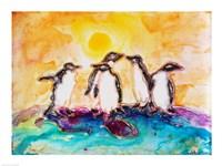 Penguins Under the Sun Fine-Art Print