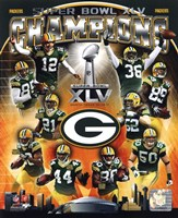 Green Bay Packers Super Bowl XLV Champions Composite (Vertical) Fine-Art Print
