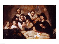 The Anatomy Lesson, after Rembrandt, c.1856 Fine-Art Print