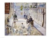 The Rue Mosnier with Workmen, 1878 Fine-Art Print